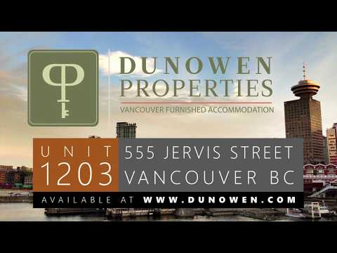 1203-555 Jervis St: Vancouver Furnished Accommodation Rental - www.dunowen.com