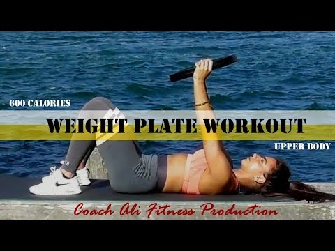 UPPER BODY Strength & Conditioning workout with a Weight Plate 600 calories