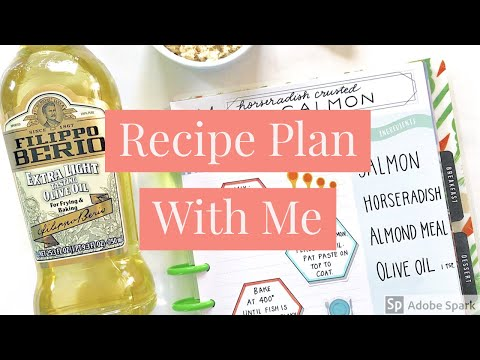 Recipe Plan With Me // Horseradish Crusted Salmon // The Happy Planner