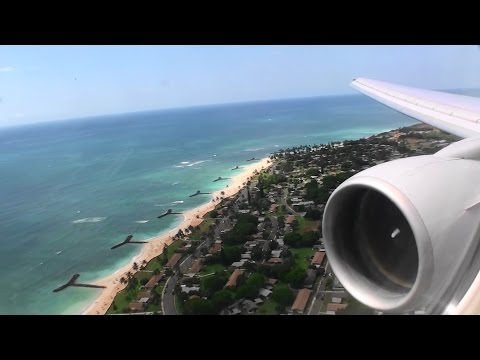 Outstanding First Class HD Boeing 777 Landing In Honolulu On United Airlines!!!