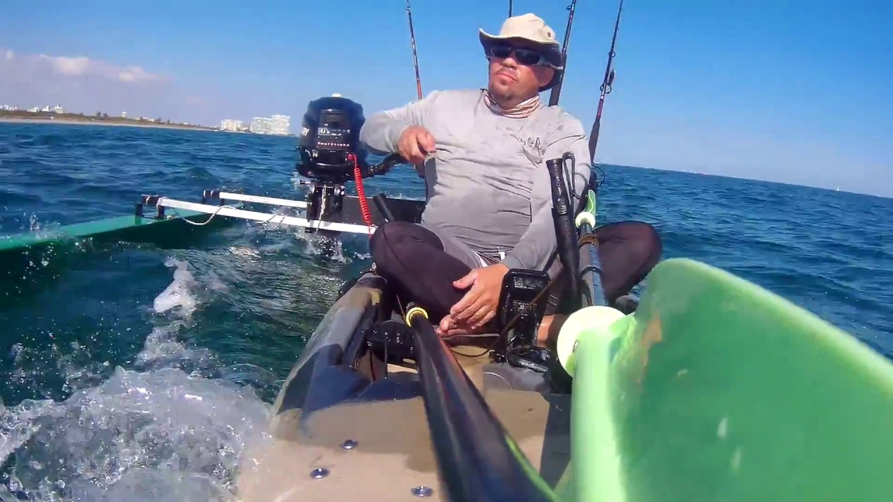 Diy Stabilizer Outrigger And Motor On My Kayak Youtube