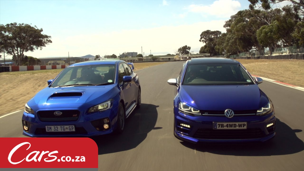 Drag Race VW Golf 7 R vs Subaru STI