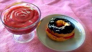 Клубничный заварной крем без молока рецепт strawberry custard