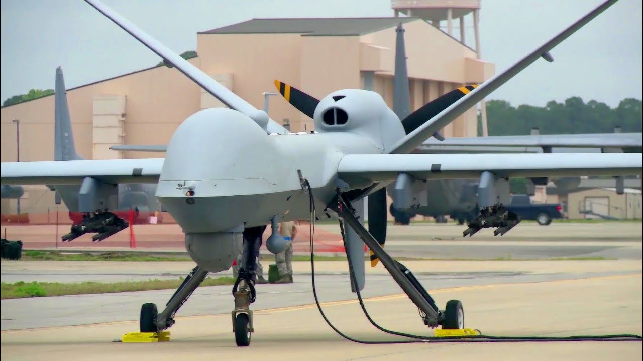Military Drone Up Close View Of The MQ 9 Reaper UAV