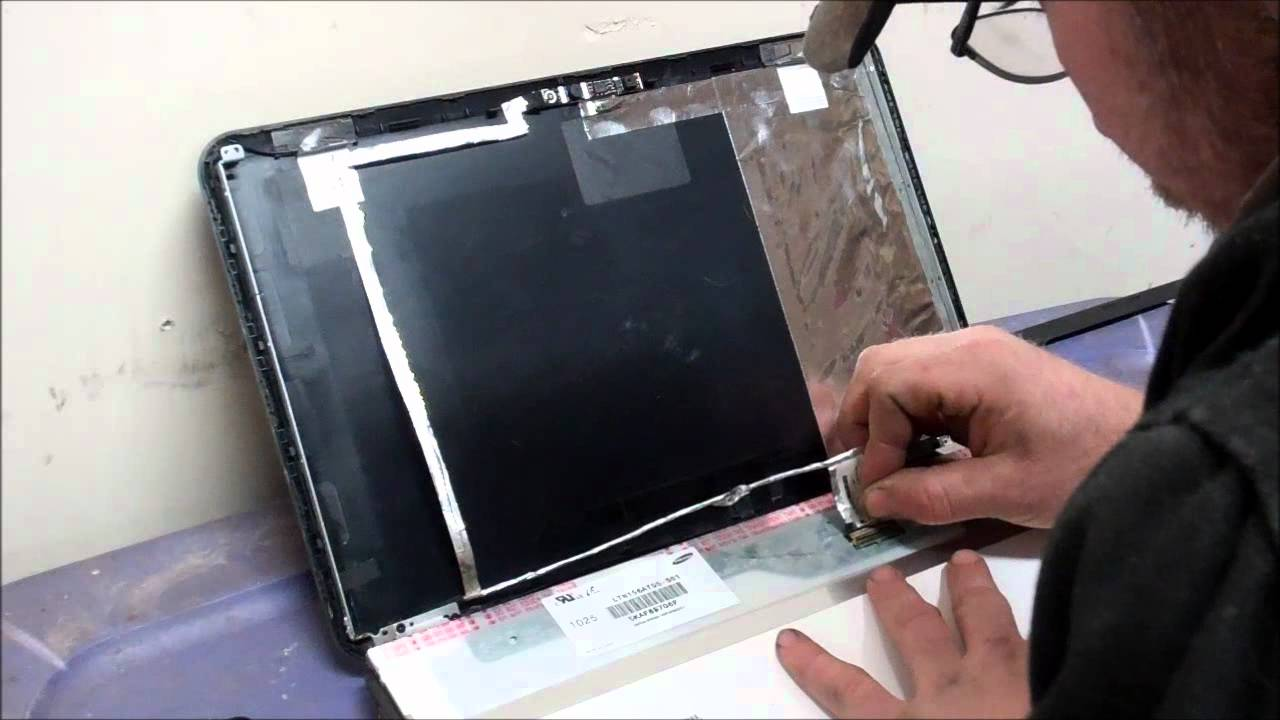 Lcd Screen Replacement On A Hp Pavilion G6 Laptop Youtube