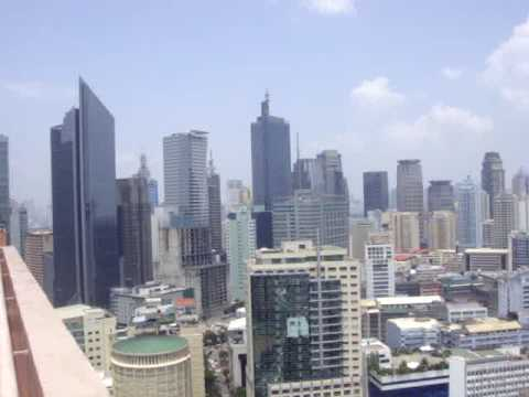 Makati City, Manila skyline with skyscrapers in the Philippines Capital