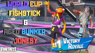 "*NEW* ""World Cup FishStick"" Variant & ""Aged Bunker Jonesy"" Skin Gameplay! (Fortnite Battle Royale)"