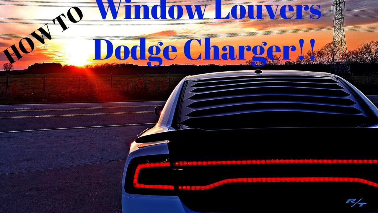 Window Louvers Install 2011 2014 Dodge Charger Rt Youtube