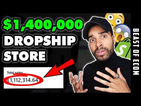My WEIRD Dropshipping Store Done $1,400,000 In 8 Months | Shopify Dropshipping thumbnail