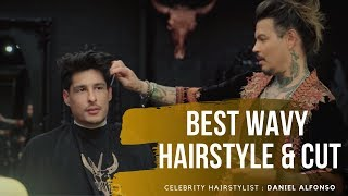 Men's Wavy Volume Low Taper Haircut 2019 feat. Daniel Alfonso