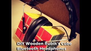 Diygiveaways-diy Wooden Rubik's Cube Bluetooth Headphones