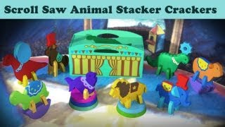 Wood Toy Plans - New Animal Stacker Crackers