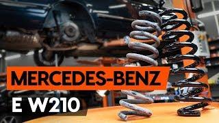 Montering Bremseskiver foran og bak MERCEDES-BENZ E-CLASS: videoopplæring