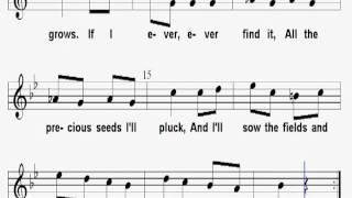 The Four-Leaf Clover Sheet Music Karaoke - Children Folk Song