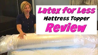 Latex for Less Review   Affordable Natural Mattress Topper Video