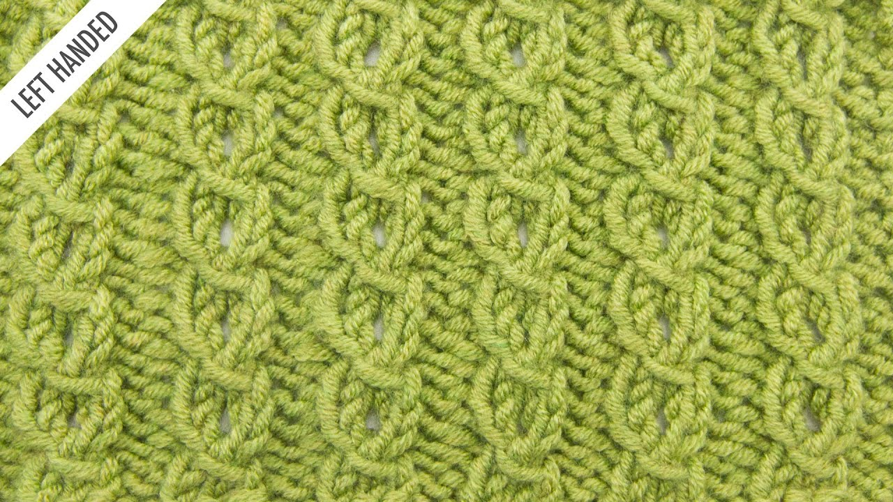 Knitting Stitches Sl1k : The Faux Cable Edging Stitch :: Knitting Stitch #524 :: Left Handed - YouTube