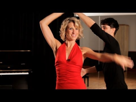 How to Do a Mambo Ladies Underarm Turn | Ballroom Dance