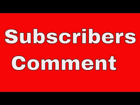 Tamil Share Subscribers Comments and Doubts
