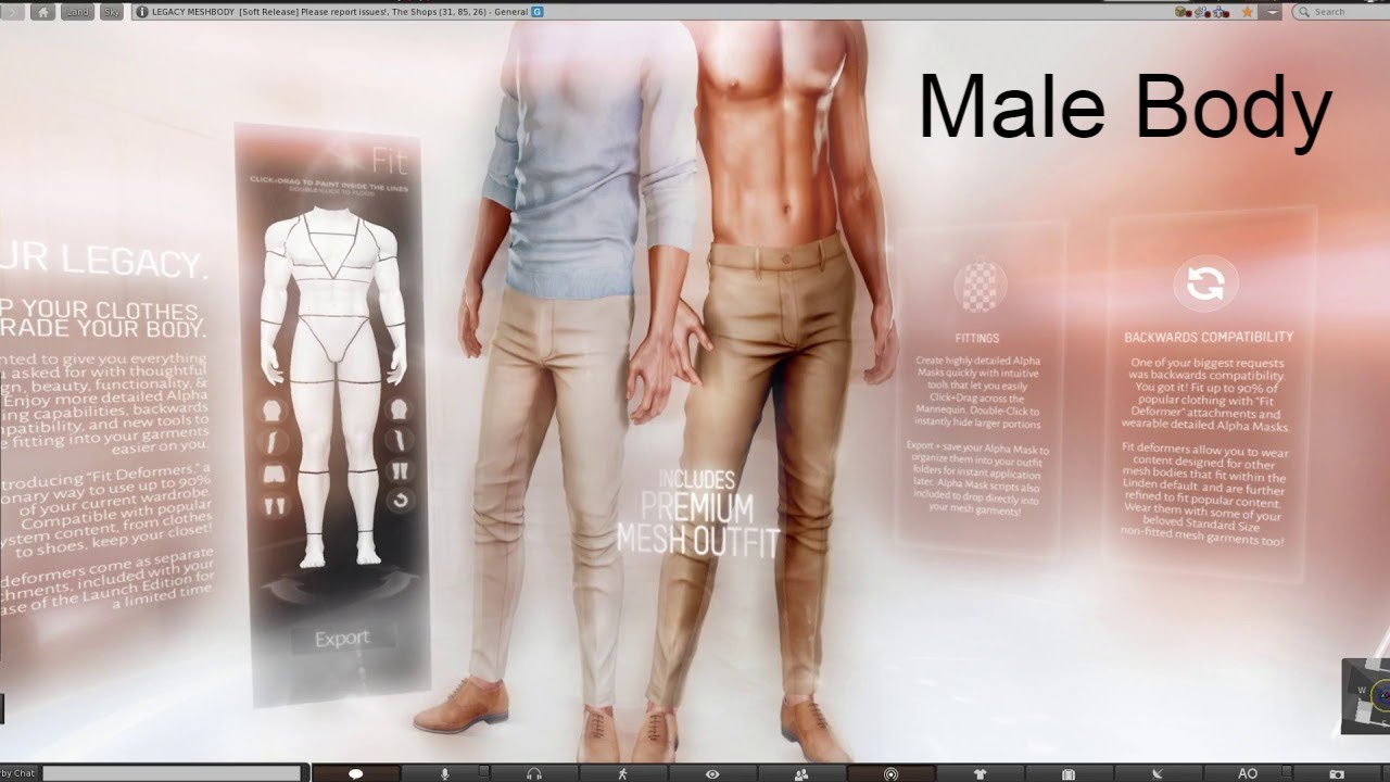 Legacy and Classic Bento Male Body from TMP