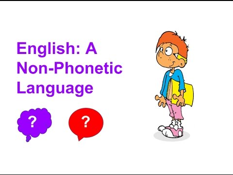 English a non phonetic language youtube english a non phonetic language altavistaventures Images