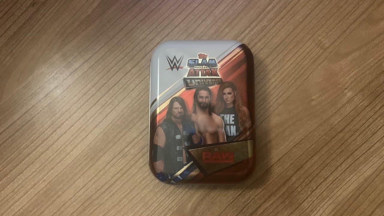 Topps-WWE SLAM ATTAX Live-Mini Tin 3er Set