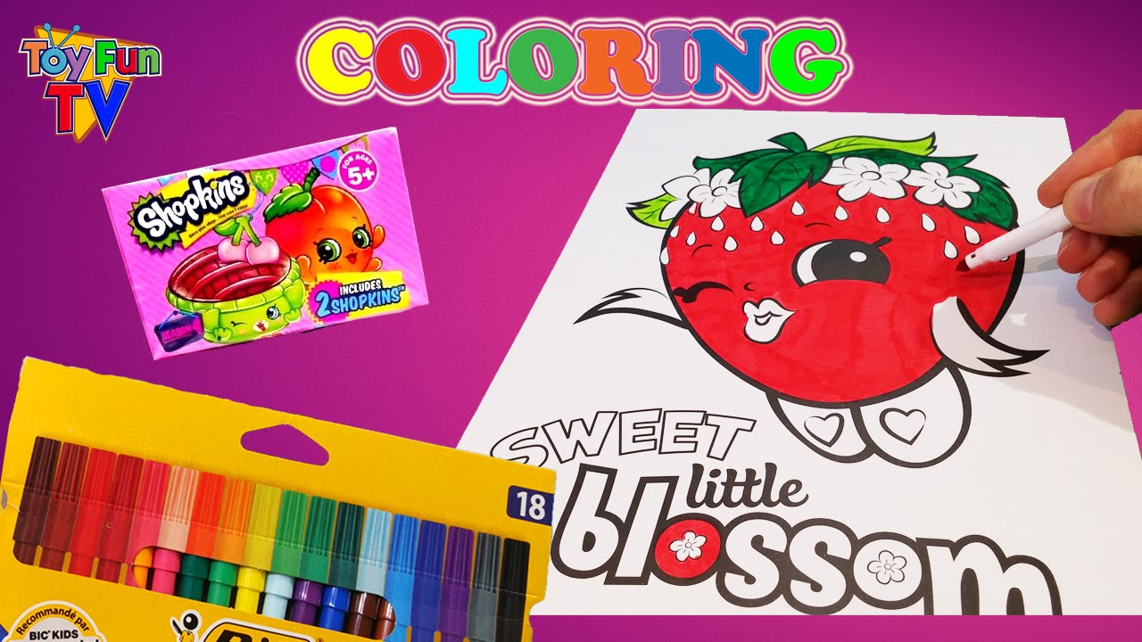 Shopkins strawberry kiss coloring book shopkins season 4 for Strawberry kiss shopkins coloring page