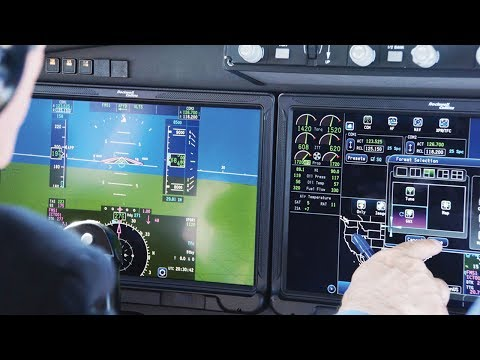 Flying the Rockwell Collins Pro Line Fusion Touch Avionics System – AINtv