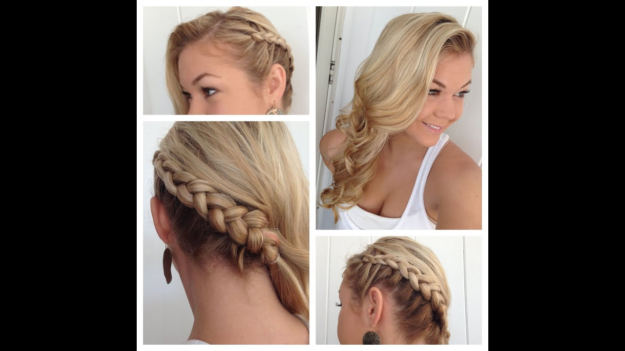 Side Dutch Braid to the Back into Classic Curls