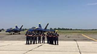 Blue Angels Pre-Flight Ceremony