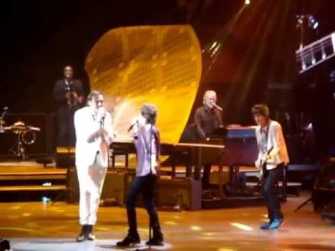 the rolling stones with Win Butler Arcade Fire  the last time live 2013 montreal