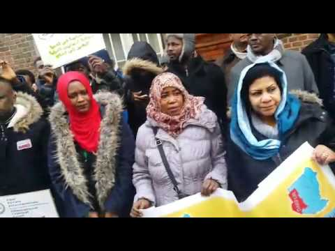 Sudanese Refugees protest in Dublin and UK
