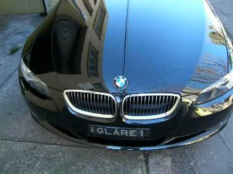 BMW Black E Coupe Outside After Car Wash With Glare Wash VJ - Black bmw car