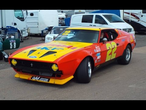 13 Sept 2015 Race 2 Marcus Bicknell 1971 Mustang Mn Saloons At
