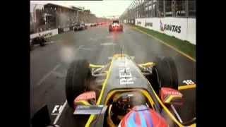 Albert Park 2010 - Vitaly Petrov amazing race start in wet