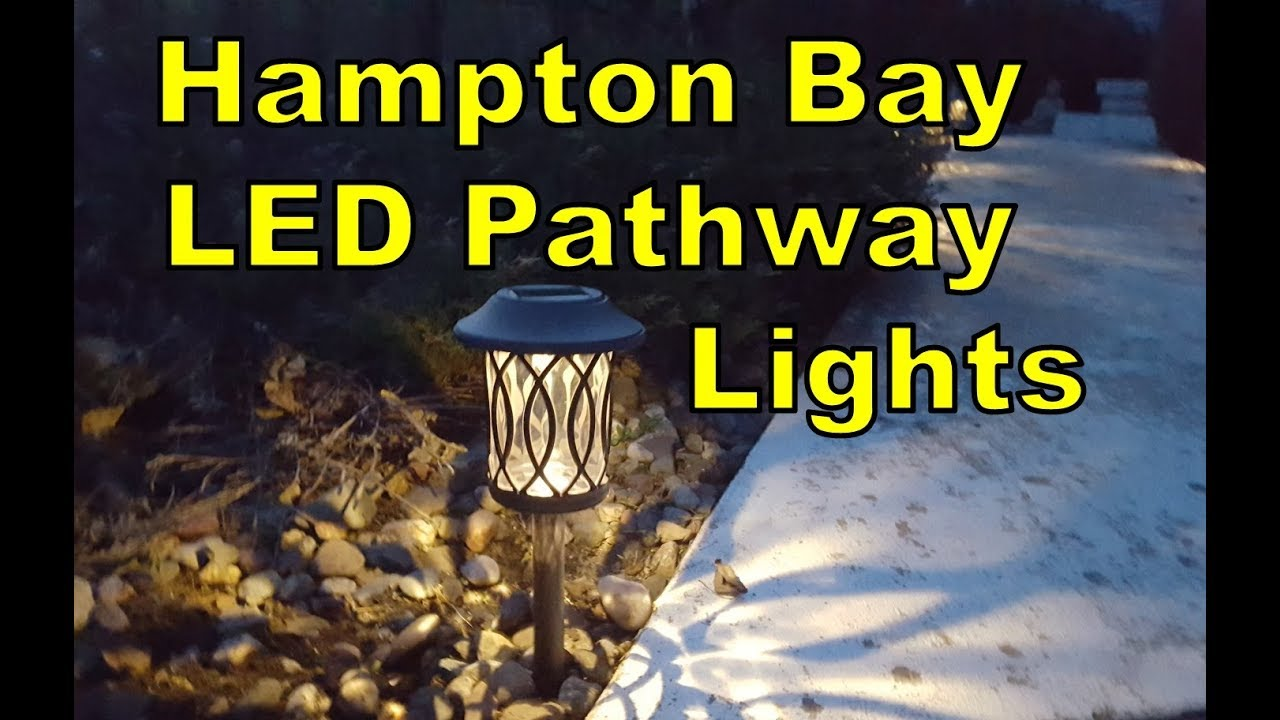Hampton Bay Solar Led Pathway Lights Home Depot