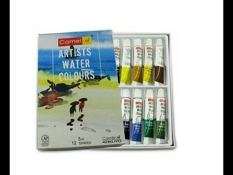 CAMEL ARTISTS WATER COLOURS || UNBOXING & REVIEW ||FOR BEGINNERS