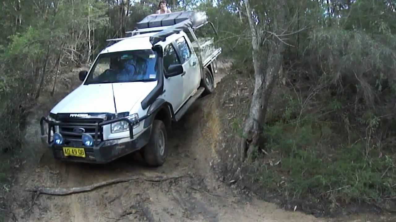 Ford ranger pj dropping into a creek