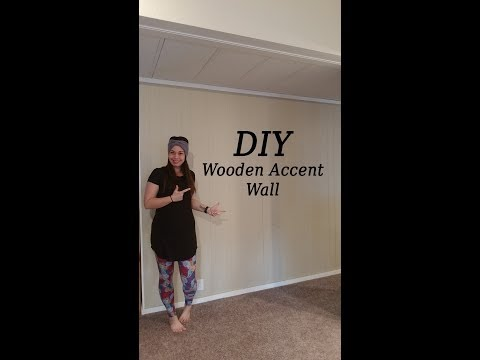 DIY WOODEN ACCENT WALL