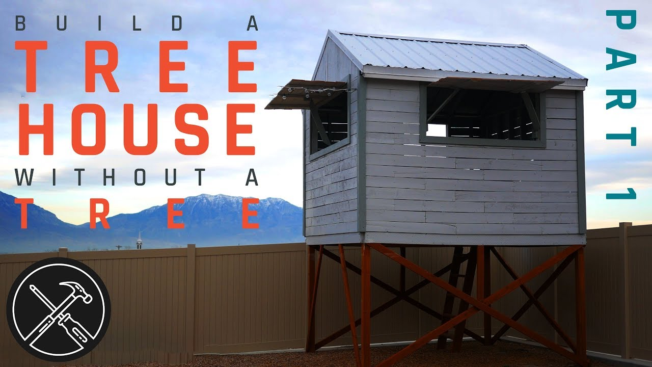 How To Build A Treeless Tree House Part 1 Footings And Deck Youtube