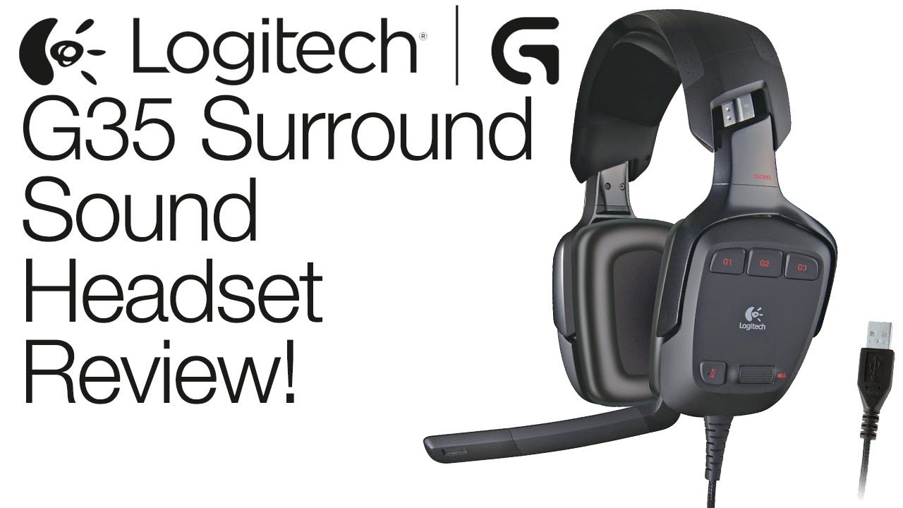 73b05b09eee Logitech G35 Surround Sound Gaming Headset Review! - YouTube
