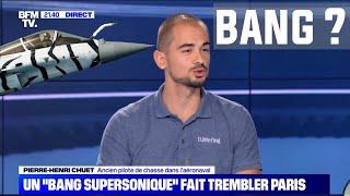 RAFALE A PARIS ?  CHEZ BFM TV POUR PARLER DU BANG SUPERSONIQUE