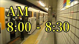 【満員】田園都市線池尻大橋駅通勤ラッシュ朝の混雑 Japan busy train in morning rush hour