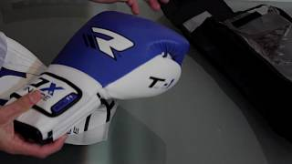 RDX Leather Gel Tech Training Boxing Gloves