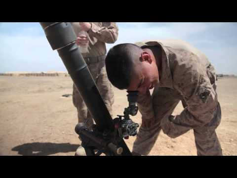 AFGHANISTAN!  Marines with Regimental Combat Team 7 Fire 81 mm Mortar!