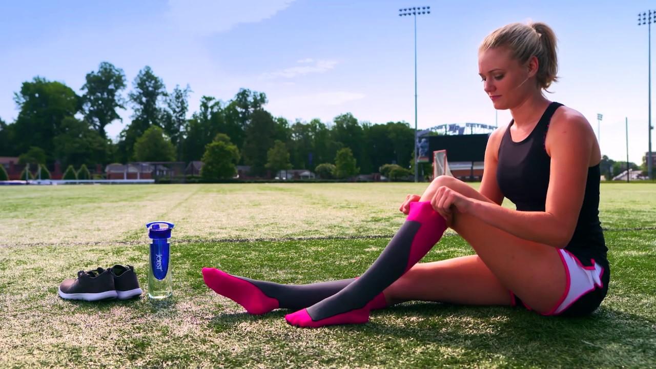 facff9827df JOBST Sport Pink Compression Sock - YouTube