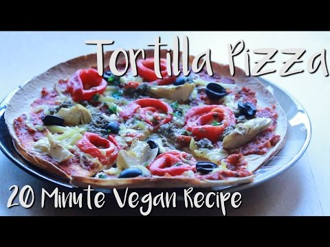 Vegan Tortilla Pizza – Recipe