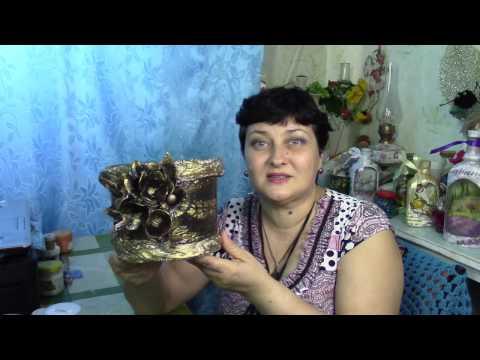 видео: Цветочный горшок из пластикового ведерка ХоббиМаркет