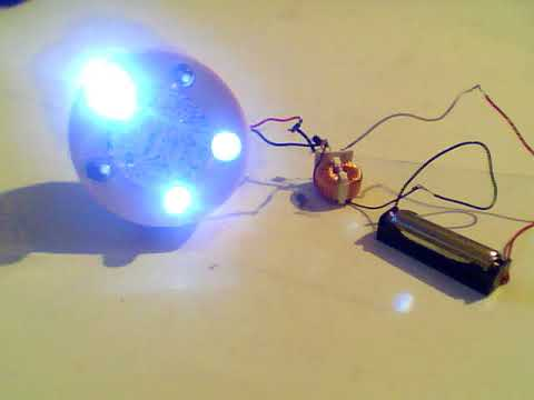 1 5v joule thief with 6v led chaser light youtube1 5v joule thief with 6v led chaser light