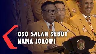 OSO Salah Sebut Nama Jokowi di Pengukuhan Pengurus Partai Hanura