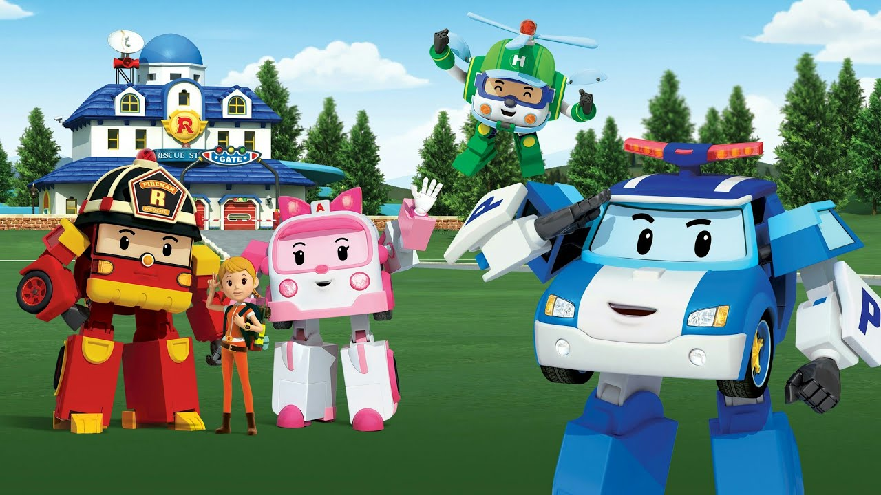 Robocar poli sigla per bambini youtube - Robot car polly ...